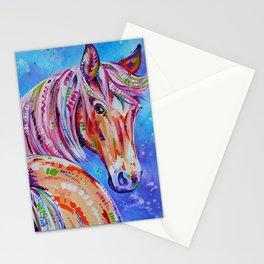 Cinnamon - Palamino Horse Art Stationery Cards