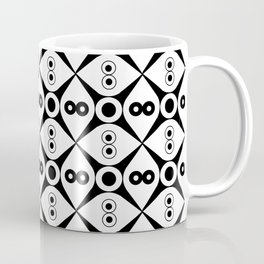 Symmetric patterns 144 Black and white Coffee Mug