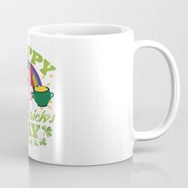 Funny St Patricks Day Axolotl Lizard Reptile Gift Coffee Mug