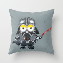 Darth Vader minion style Throw Pillow