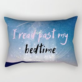 I Read Past My Bedtime Rectangular Pillow