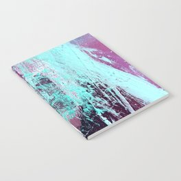 01012: a vibrant abstract piece in teal and ultraviolet Notebook
