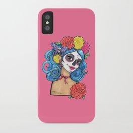 Dia de los Muertos: Sugar Skull Girl iPhone Case
