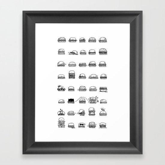Burgerz Framed Art Print