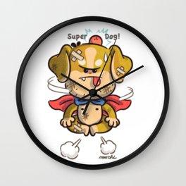 super-dog Wall Clock