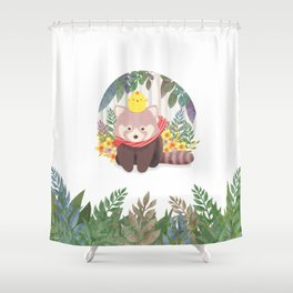 Roo&Pibi in the forest. Shower Curtain