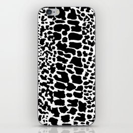 ANIMAL PRNT SNAKE SKIN WHITE AND BLACK PATTERN iPhone Skin