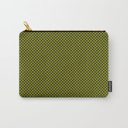Houndstooth Black & Poison Green small Carry-All Pouch