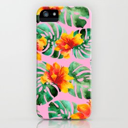 Tropical Monstera Bloom iPhone Case