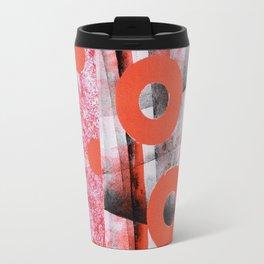 Circles series/Orange Travel Mug