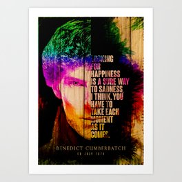 Wood Benedict Cumberbatch English actor Cumberbatch is known for his performances on the stage and screen and has received numerous accolades including a Emmy Award a BAFTA and a Olivier Awa Art Print
