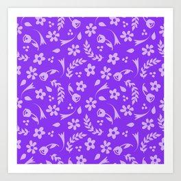 Macy - purple Art Print