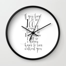If You Live To Be 100,Quotes, Winnie The Pooh, Quote Prints, Nursery Wall Art, Kids Wall art Wall Clock