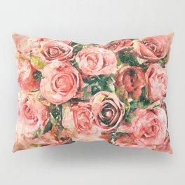 Vintage watercolor roses Pillow Sham