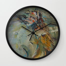 Dance like a flight Wall Clock