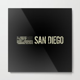 Black Flag: San Diego Metal Print