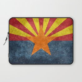 State flag of Arizona in Vintage Grunge Laptop Sleeve