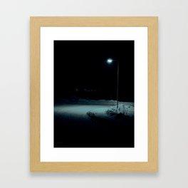 Winter Walk at Home Framed Art Print