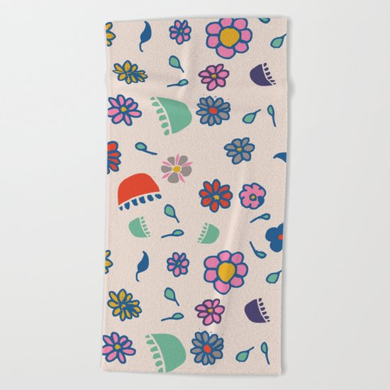 Floral spring Beach Towel