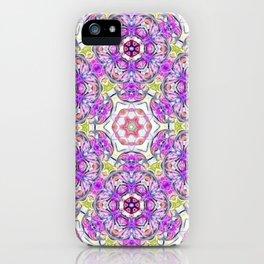 Purple Flower Bouquet iPhone Case