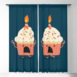 Cupcake on fire Blackout Curtain