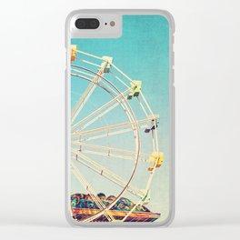 Boardwalk Ferris Wheel Clear iPhone Case
