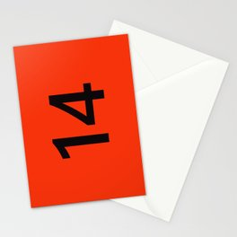 Legendary No. 14 in orange and black Stationery Cards