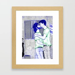 At Work Framed Art Print