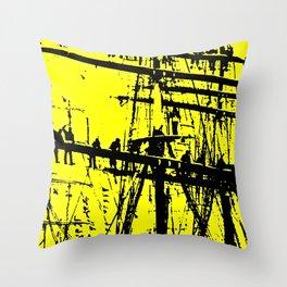 Sailors climbing mast Throw Pillow