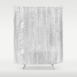 Whitewashed wood Shower Curtain