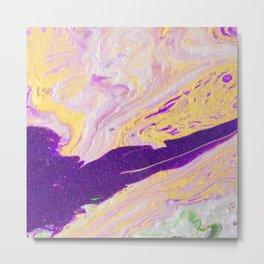 Purple River In The Golden Land Metal Print