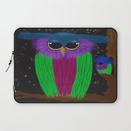 The Prismatic Crested Owl Laptop Sleeve