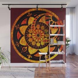 Dresden Gold Rose Wall Mural