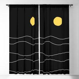 Black Ocean Blackout Curtain