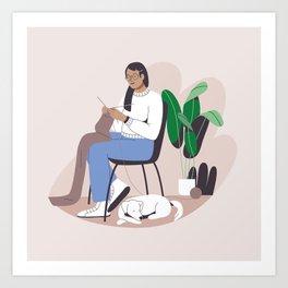 Knitting Art Print