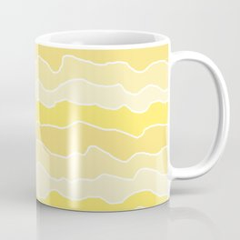 Four Shades of Yellow with White Squiggly Lines Coffee Mug