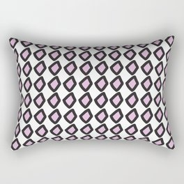 Digital Vector Graphic Black & Violet Diamonds Rectangular Pillow