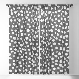 Spot Pattern(invert) Sheer Curtain