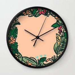 Mr. Tropical Flowers Wall Clock