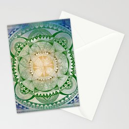 Metta Mandala, Loving Kindness Meditation Stationery Cards