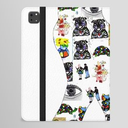 The Meow In A Collage iPad Folio Case
