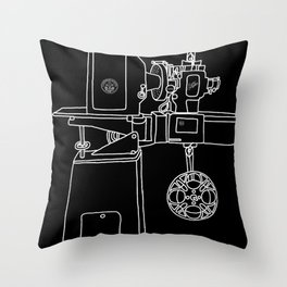Reel Projectionist Throw Pillow