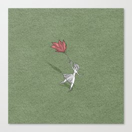 Rose umbrella Canvas Print