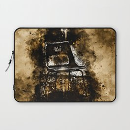 chair at lost place splatter watercolor Laptop Sleeve