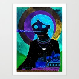 Summer Night Goddess Art Print