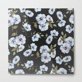 BLUE FLOWERS WATERCOLOR Metal Print