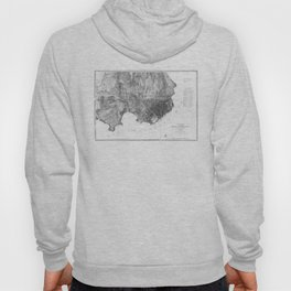 Vintage Map of San Francisco California (1858) BW Hoody