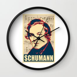 Robert Schumann musical notes Wall Clock