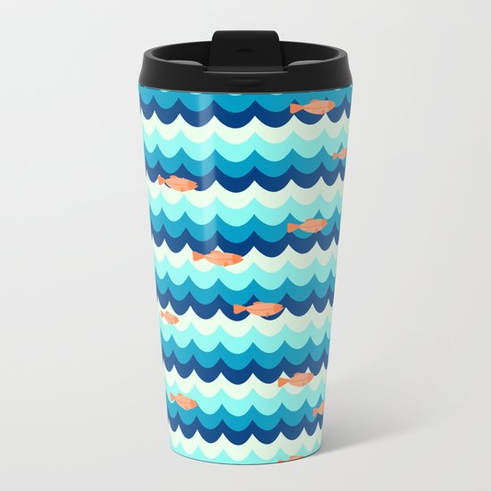 Fishes in the sea Metal Travel Mug