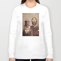 victorian Long Sleeve T-shirts featuring Victorian Robots  by Terry Fan